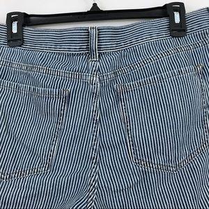 Banana Republic Shorts - Banana Republic Striped Roll-up Shorts